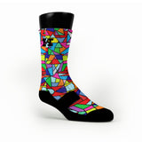 Stained Glass Custom HoopSwagg Socks