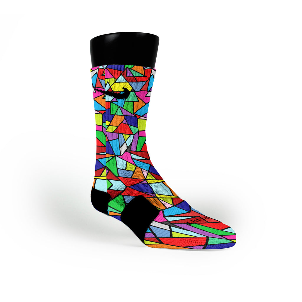 Stained Glass Custom Nike Elite Socks