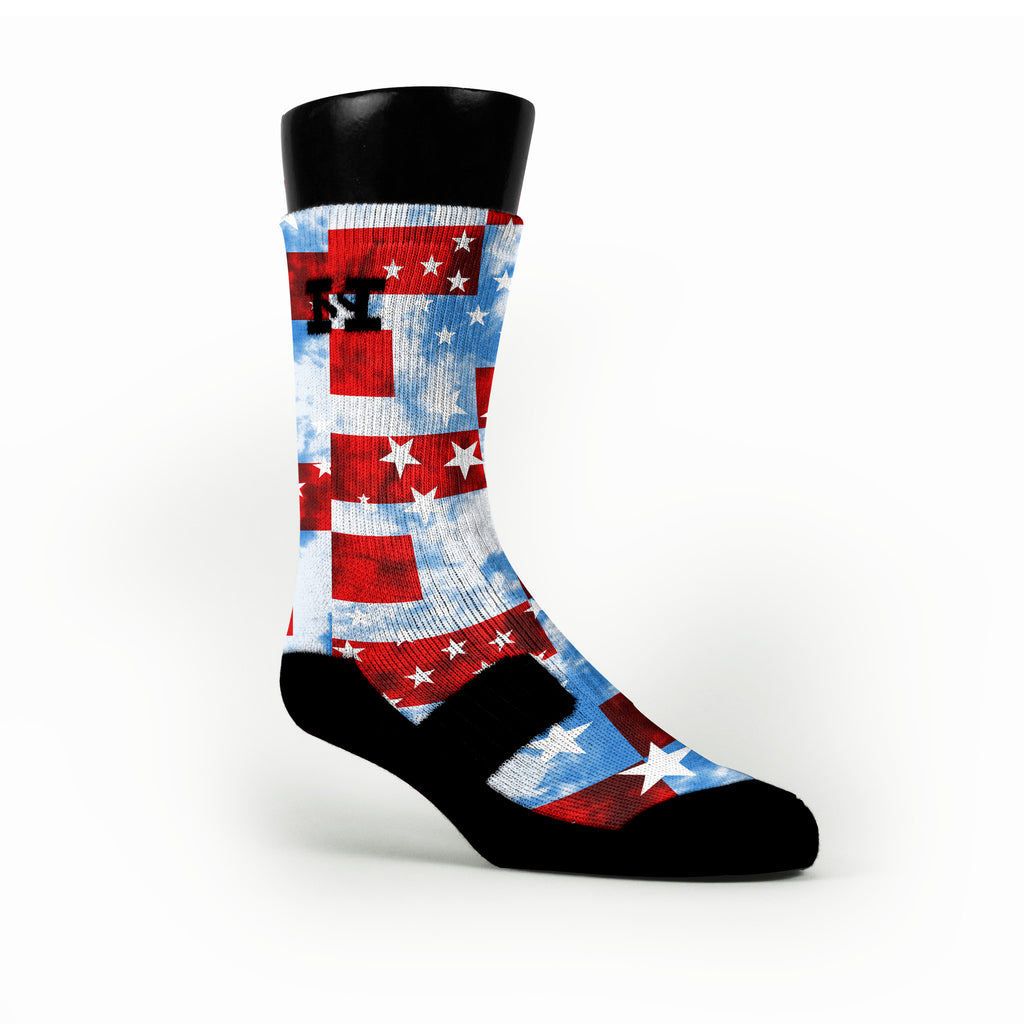 Stars And Stripes Custom HoopSwagg Socks