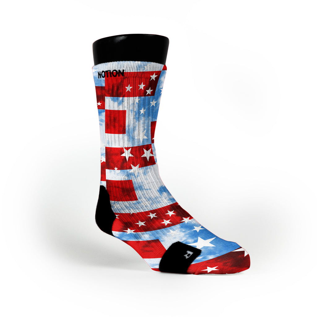 Stars And Stripes Custom Notion Socks