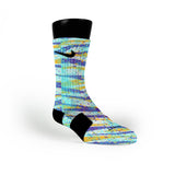 Striped Camo Custom Nike Elite Socks