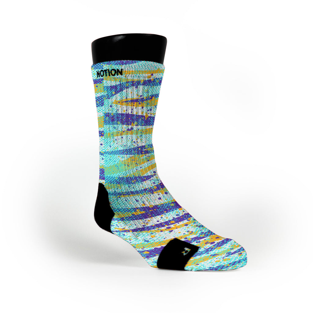 Striped Camo Custom Notion Socks