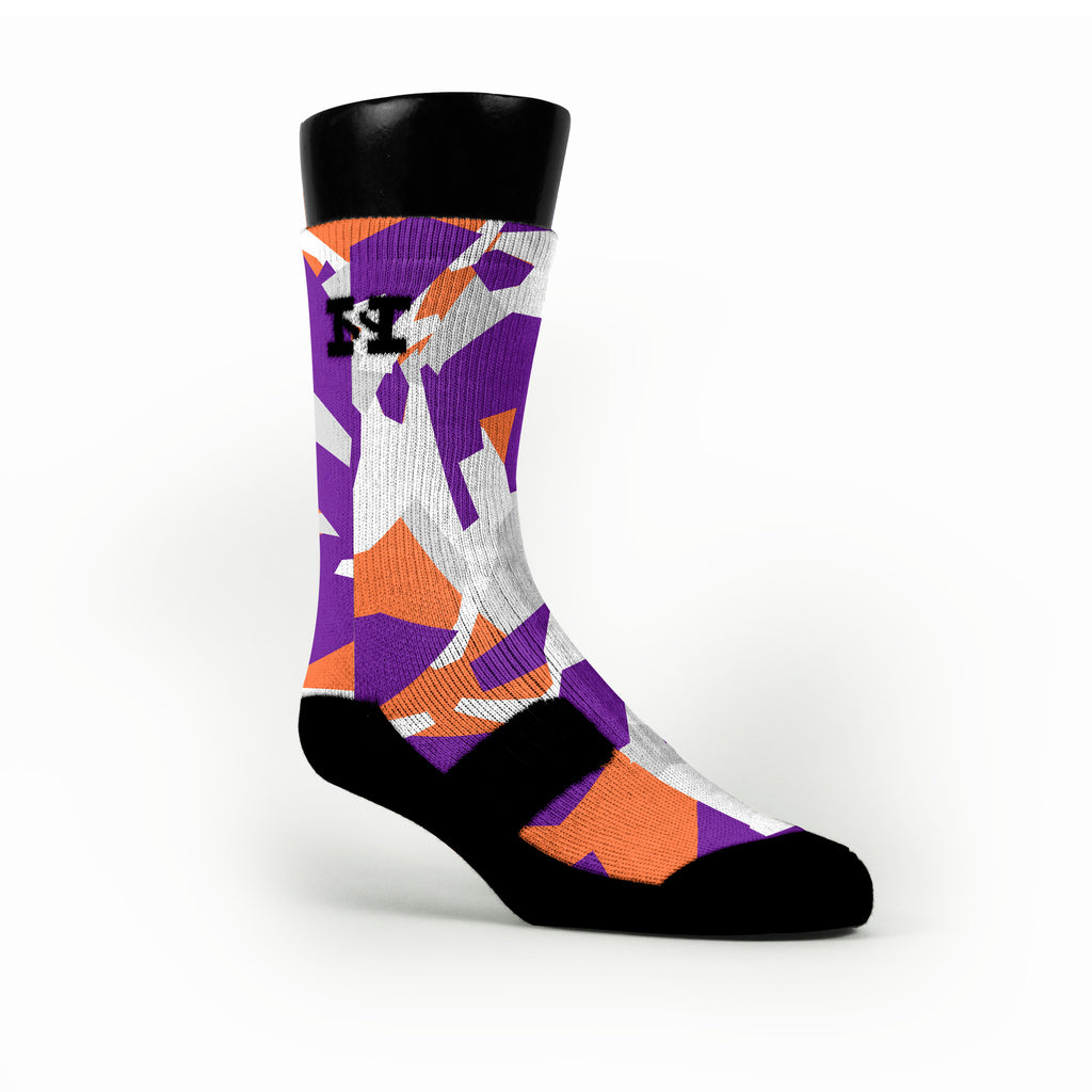 Suns Hardwood Camo Custom HoopSwagg Socks