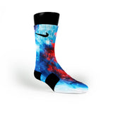 Superman Galaxy Remix Custom Nike Elite Socks