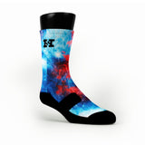 Superman Galaxy Remix Custom HoopSwagg Socks