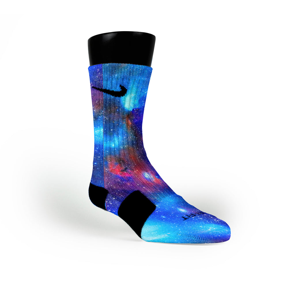 Superman Galaxy Custom Nike Elite Socks