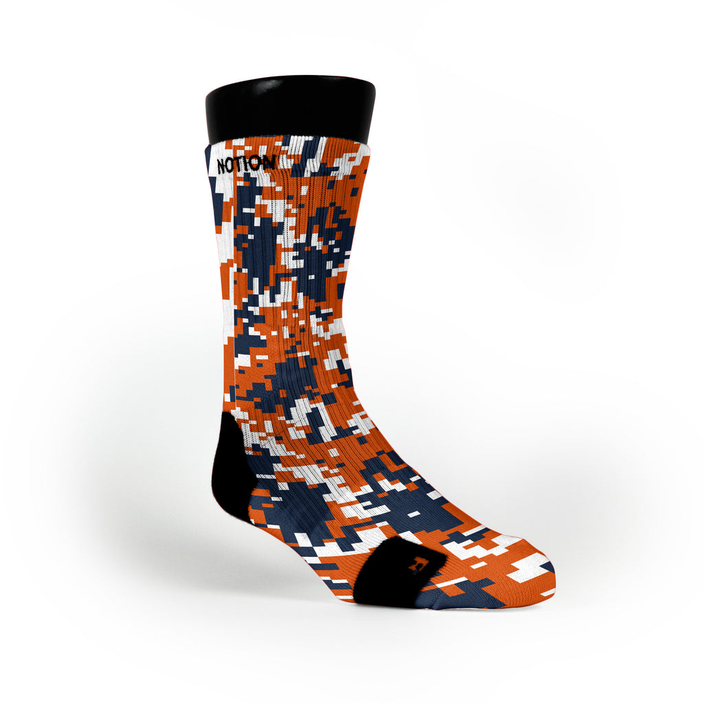 Syracuse Digital Camo Custom Notion Socks
