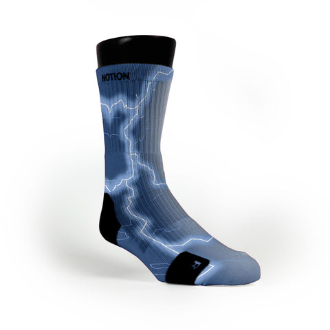 Tar Heel Storm Custom Notion Socks