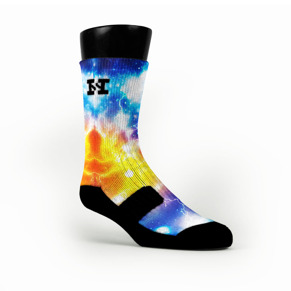 Thunder Galaxies Custom HoopSwagg Socks