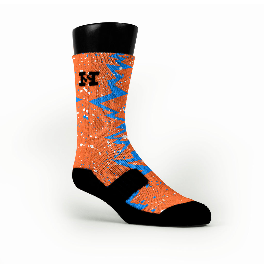 Thunder Quakes Custom HoopSwagg Socks