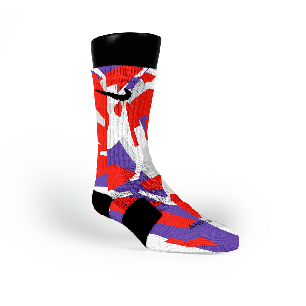 Toronto Hardwood Camo Custom Nike Elite Socks