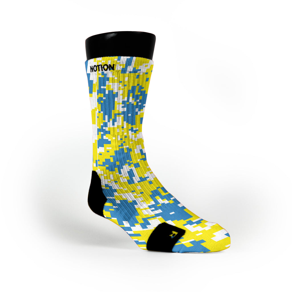 Ucla Digital Camo Custom Notion Socks