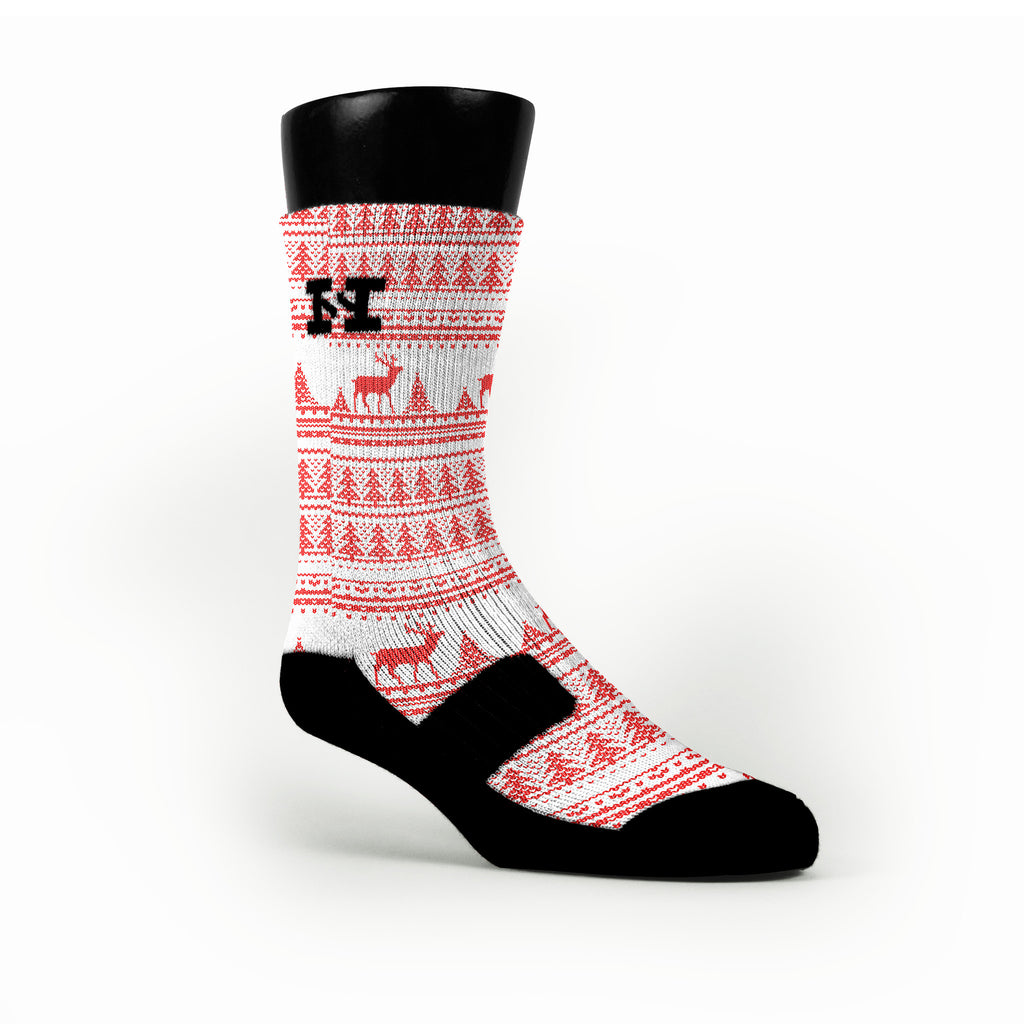 Ugly Sweater Custom HoopSwagg Socks