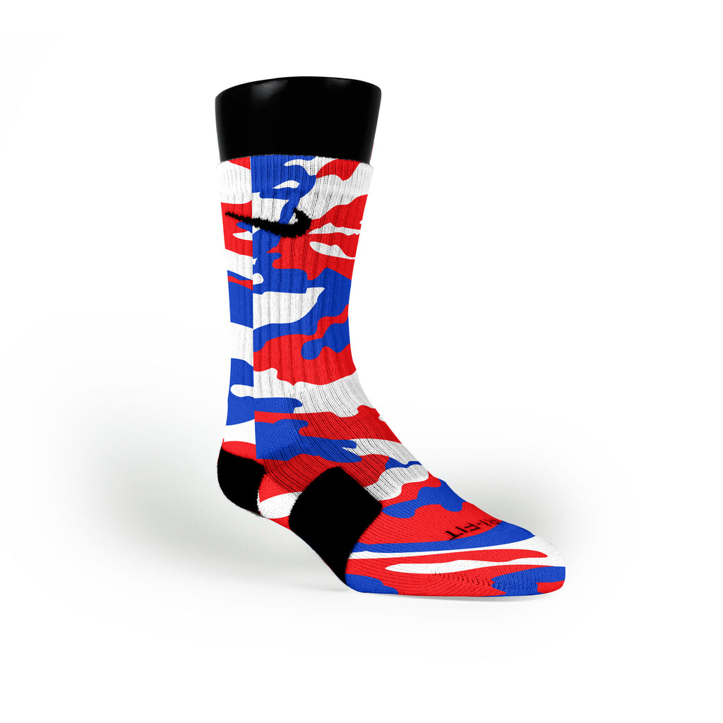 Usa Camo Custom Nike Elite Socks
