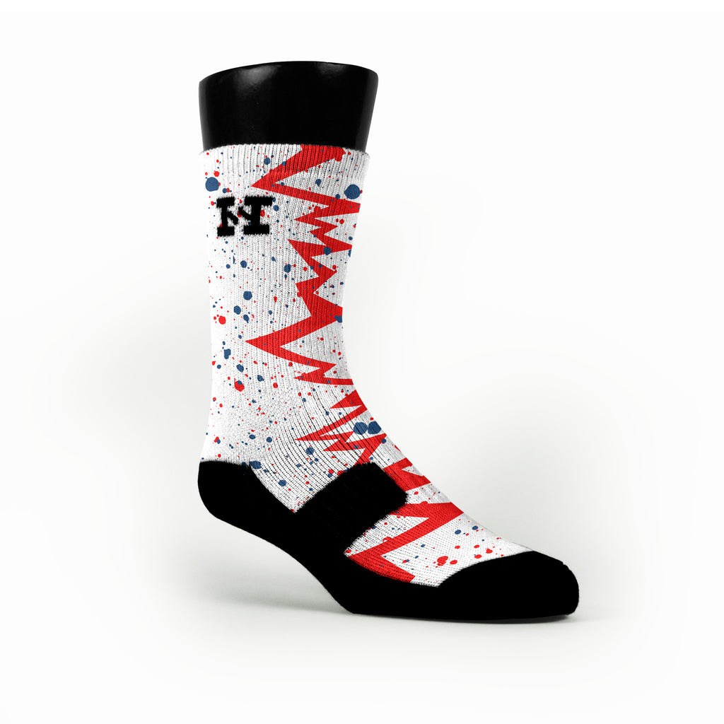 Usa Quakes Custom HoopSwagg Socks