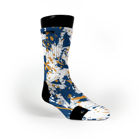 Virginia Splatter Custom Notion Socks