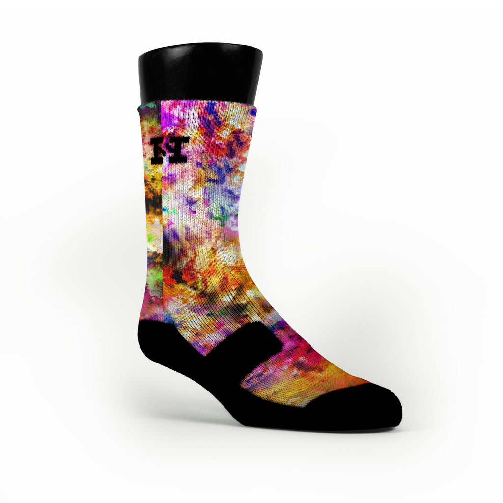 Watercolor Whirlwind Custom HoopSwagg Socks