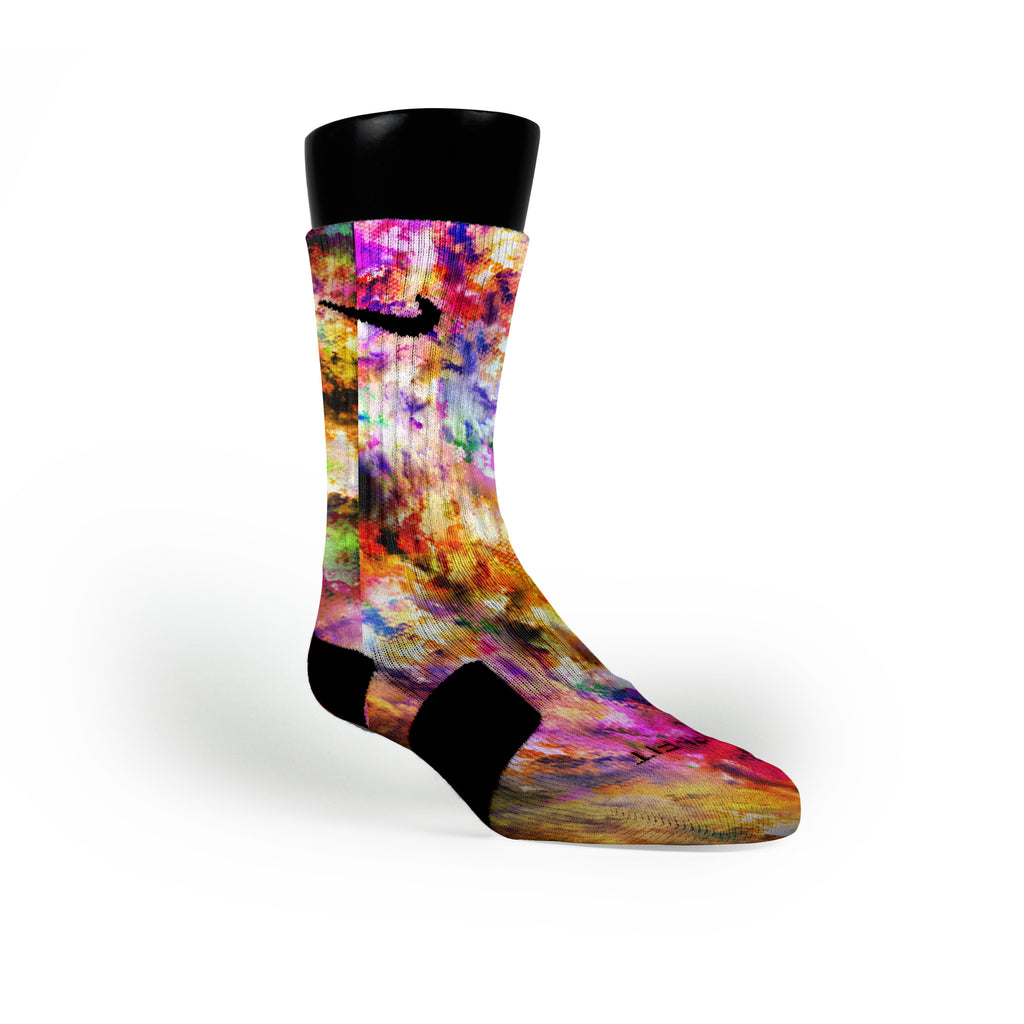 Watercolor Whirlwind Custom Nike Elite Socks