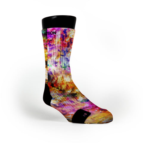 Watercolor Whirlwind Custom Notion Socks