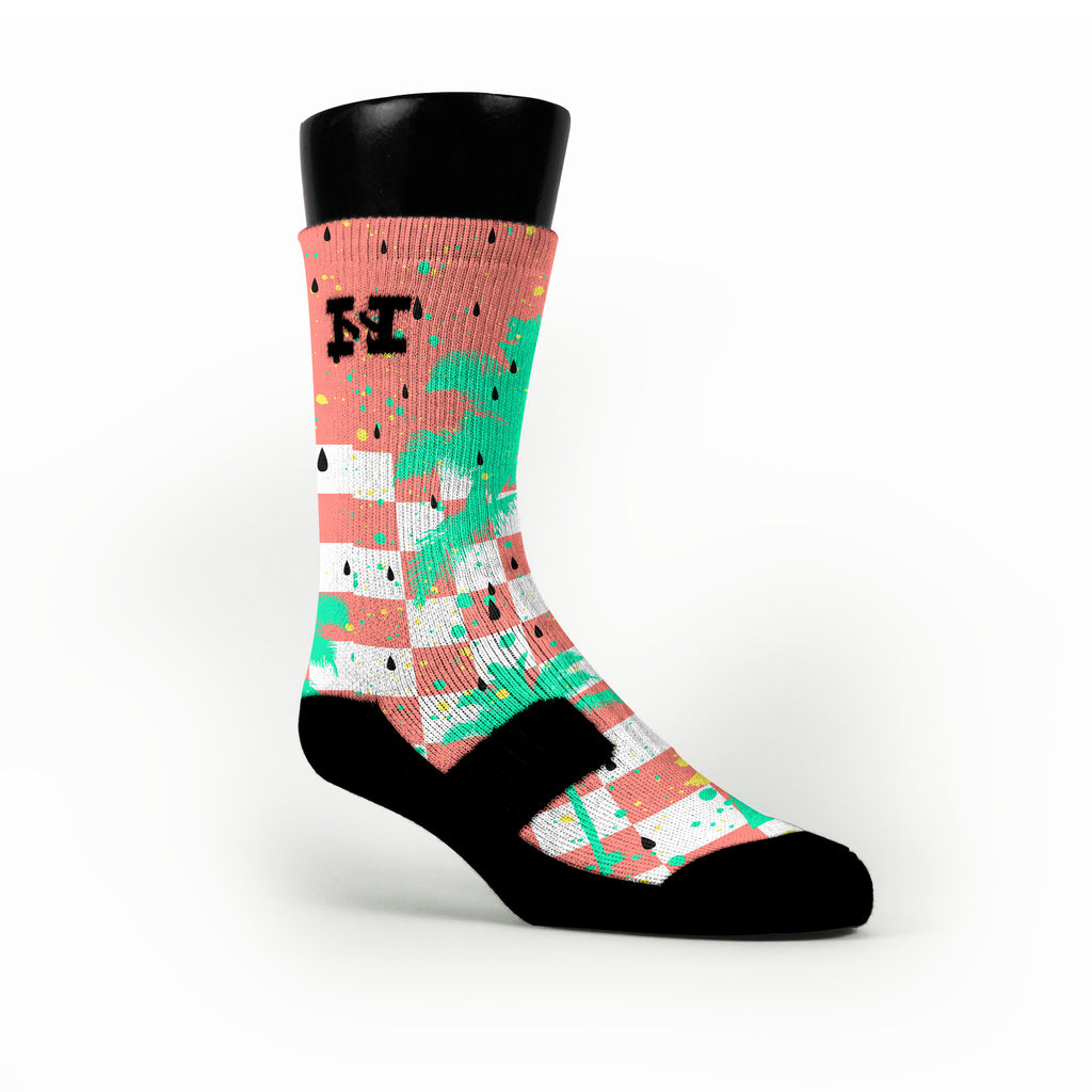 Watermelons Custom HoopSwagg Socks