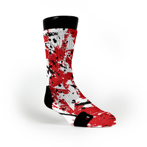 Wisconsin Splatter Custom Notion Socks