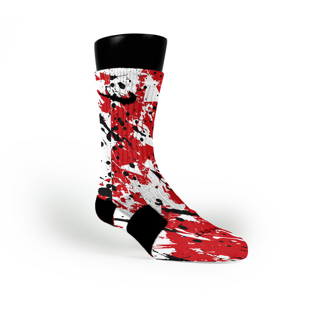 Wisconsin Splatter Custom Nike Elite Socks