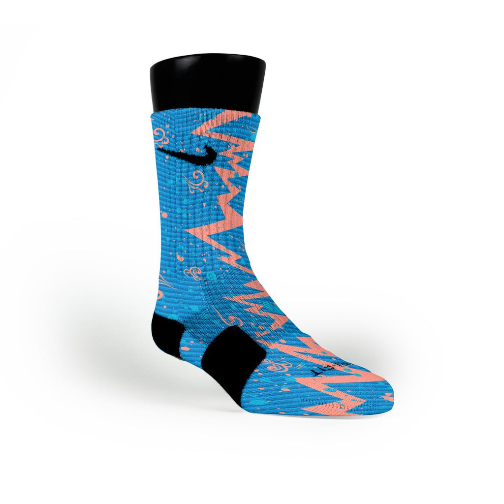 Year Of The Dragon Quakes Custom Nike Elite Socks