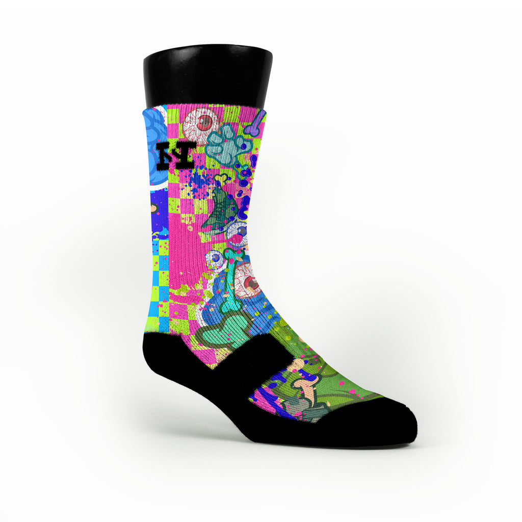 Zombie Experiment Custom HoopSwagg Socks