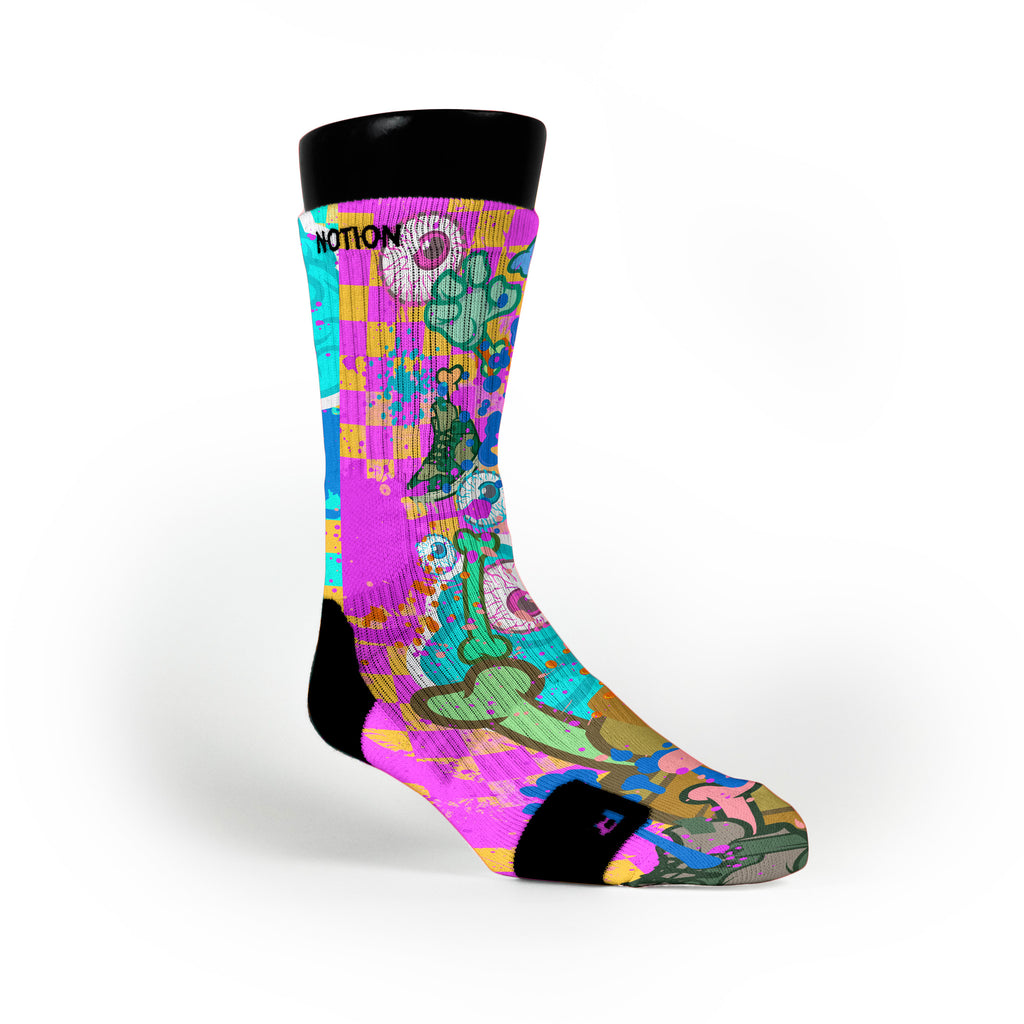 Zombie Invasion Custom Notion Socks