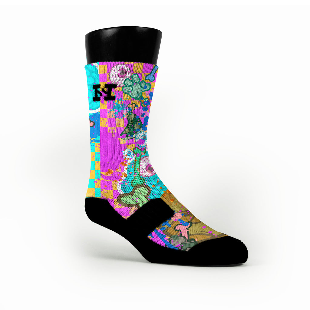 Zombie Invasion Custom HoopSwagg Socks