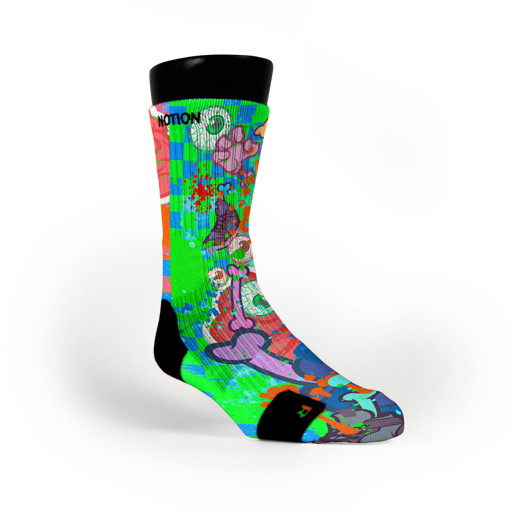 Zombie Meltdown Custom Notion Socks