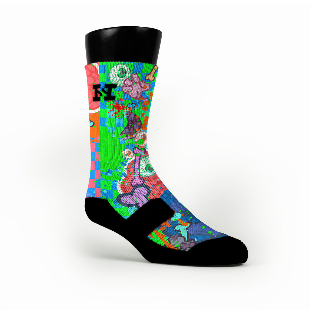 Zombie Meltdown Custom HoopSwagg Socks