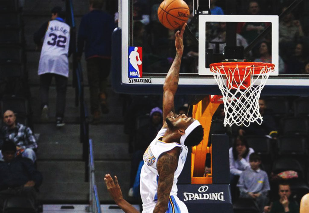 The Nuggets' Will Barton pulls the old inbound-off-the-butt trick for a dunk
