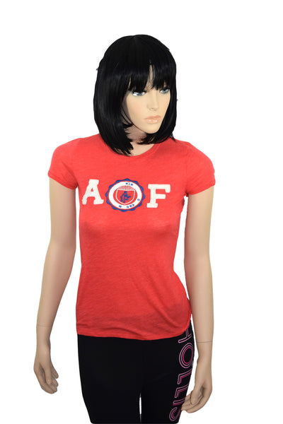 Abercrombie & Fitch Damen Woman Girl Shirt rot red rojo shortsleeve graphic *** 157-584-1516-502 ***