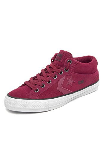 Converse Herren Man Sneaker Gr. 44.5 (US10.5) Wildleder Suede Chuck Taylor All Star burgunder rot red *** Star Player Pro Mid Burgundy / Oxheart / Gravel *** 144592C