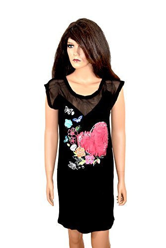 Desigual Damen Woman Girls Kleid Dress schwarz ärmellos Herzchen *** SHEILA *** 55V20G0 sleeveless