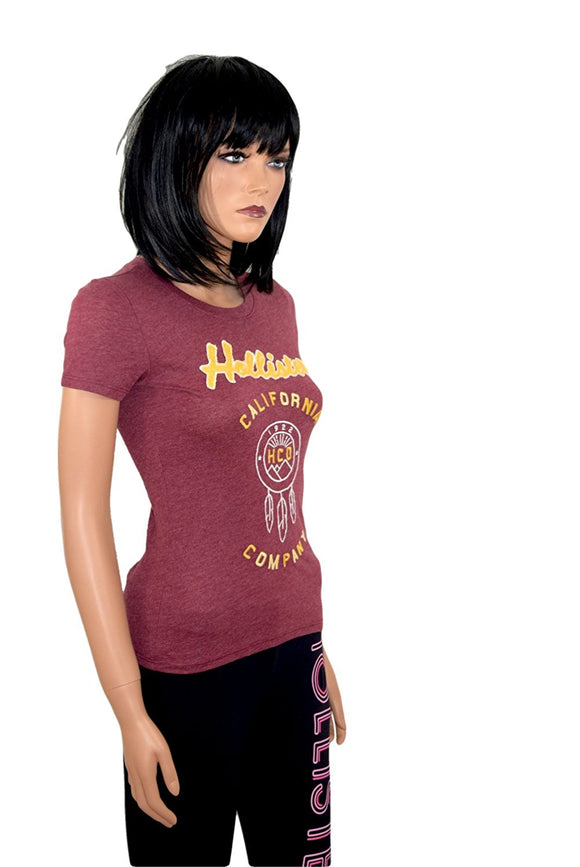Hollister Damen Woman Girl Shirt rot weinrot red rojo shortsleeve graphic *** 396-357-1550-099 ***