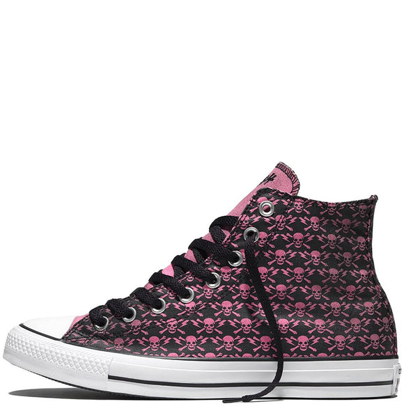 Converse The Clash Kollektion Limited Edition * Skulls, Bones and Flashes' Black / Chateau Rose / White * 155073C HT