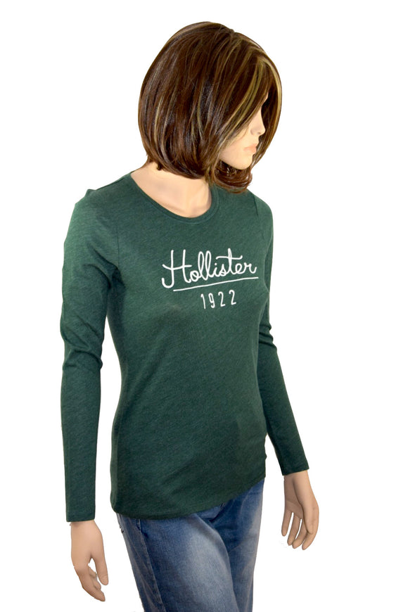 Hollister Damen Woman Girl Shirt grün green verde langarm *** 385-357-0027-302 *** longsleeve