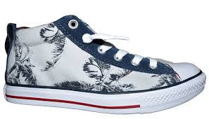 Converse Unisex Sneaker Chuck Taylor All Star Mid *** CT STREET MID PALM/NAVY *** 648496C Canvas