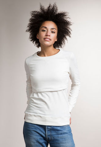 B. Warmer Sweatshirt (Tofu White)
