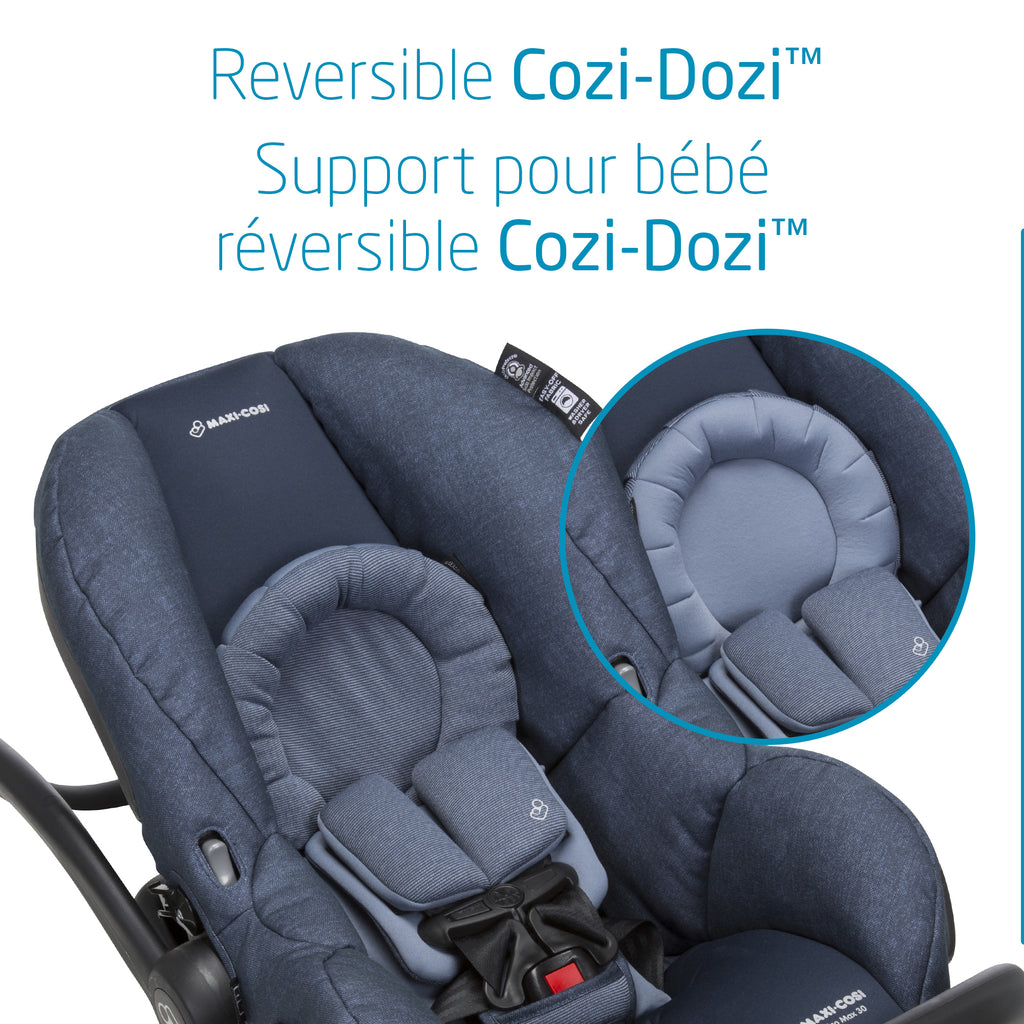 Lila Stroller + Mico Max Car Seat Bundle - Nomad Blue