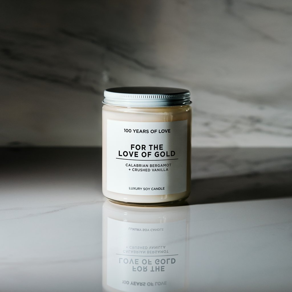 Luxury Soy Candle - For the Love of Gold