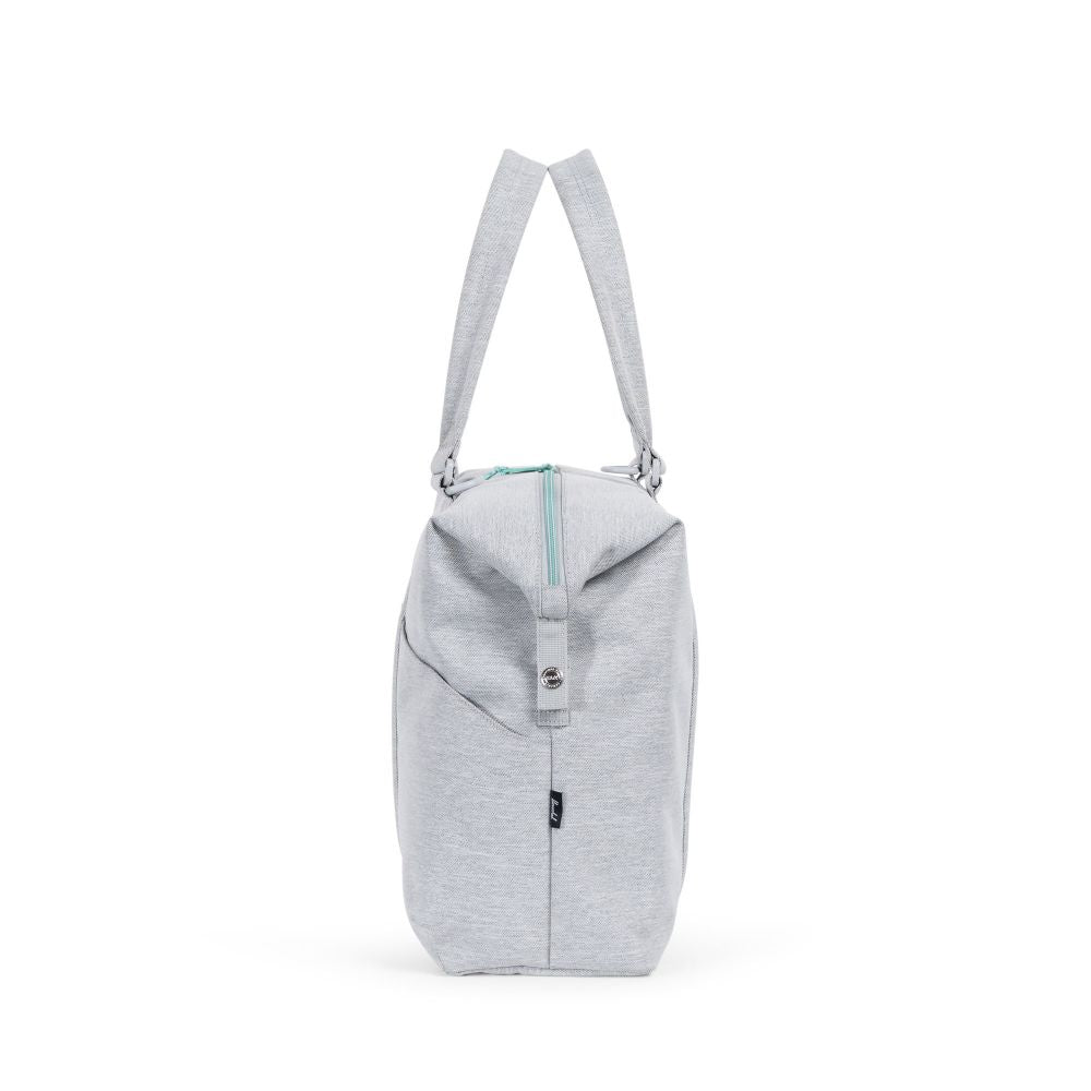 herschel supply strand sprout diaper tote light grey crosshatch