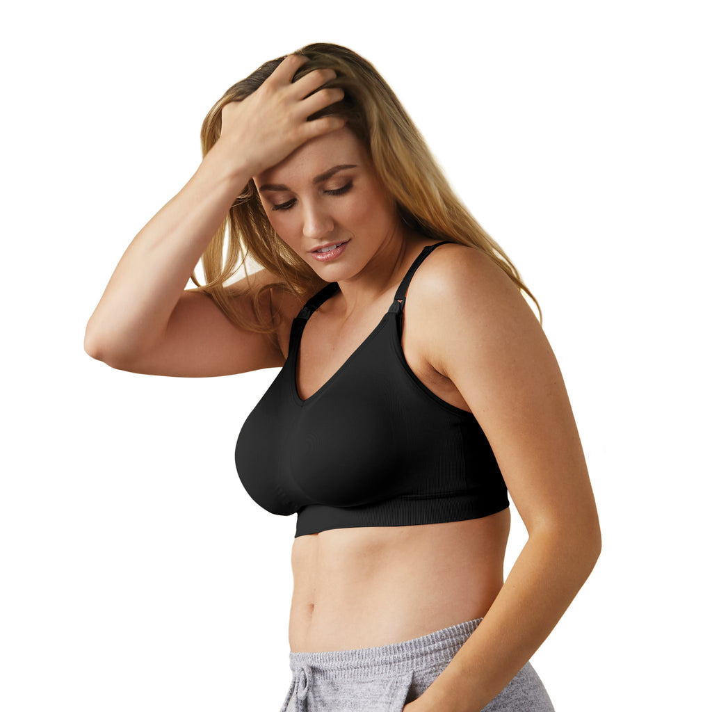 Body Silk Seamless Nursing Bra Full Cup - Black
