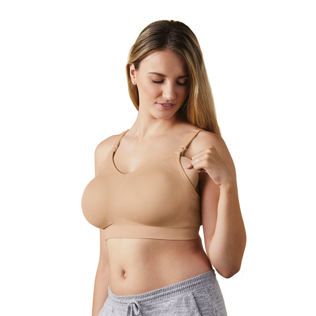 bravado body silk seamless nursing bra butterscotch