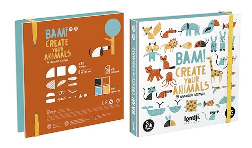 Wooden Stamps - Bam! Create Your Animals