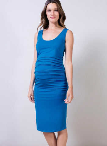 Ellis Tank Dress - Peacock Blue