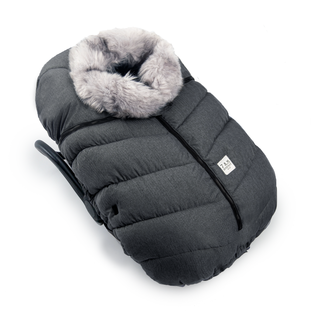 Cocoon Infant Car Seat Cover - Grey Tundra