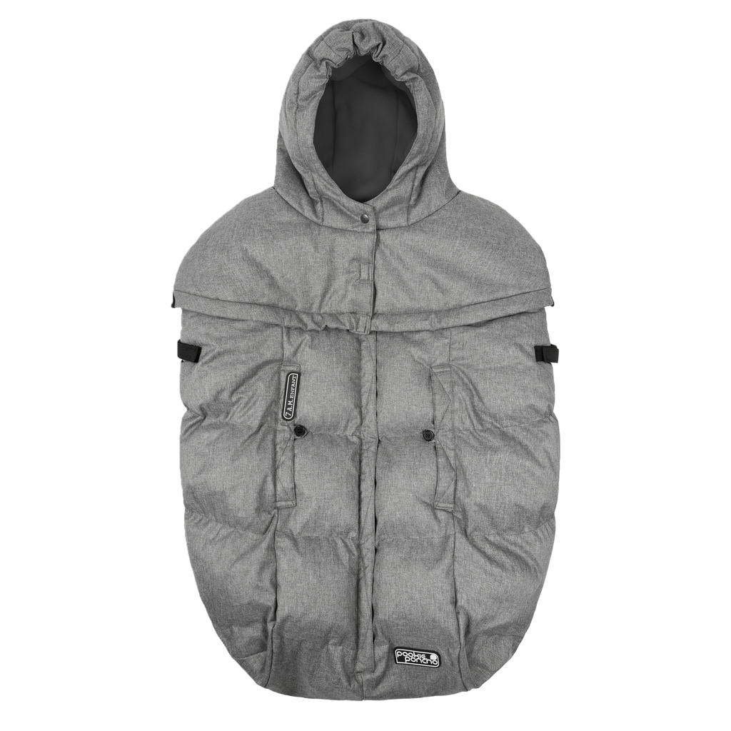 Pookie Poncho Winter Cover - Heather Grey